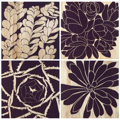 Selamat Succulent Panels (Set of 4)