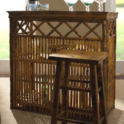 Kenian Coastal Chic Tiki Bar Table