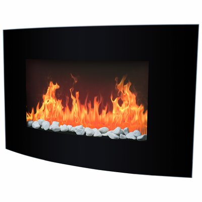 Wall Mounted Arched Glass Electric Fireplace
