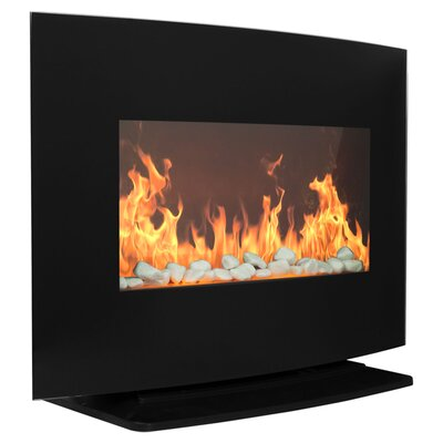 warm house curved glass electric fireplace heater
