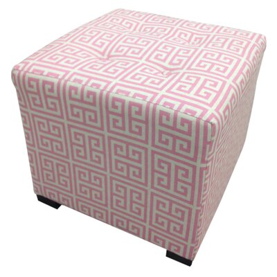 Sole Designs Pinky Chain Cotton Cube Ottoman
