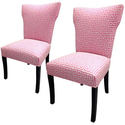 Sole Designs Pinky Chain Wingback Cotton Slipper Chairs (Set of 2)