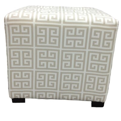 Sole Designs Kasumi Chain Cotton Square Cube Ottoman