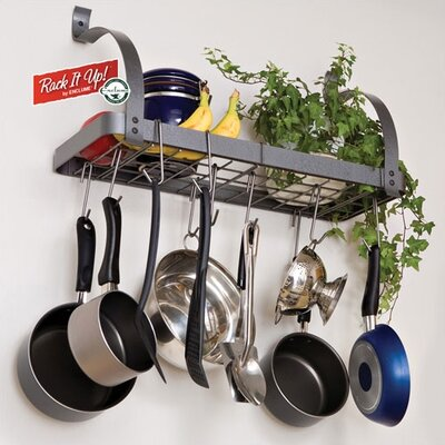 RACK IT UP! Bookshelf Wall Mounted Pot Rack