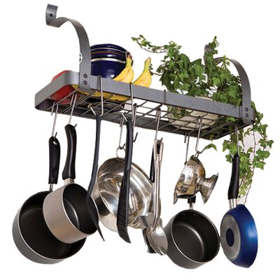 Enclume RACK IT UP! Bookshelf Wall Mounted Pot Rack