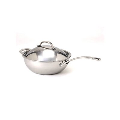 Elite 3.7-Quart Stainless Steel Chef's Pan with Lid