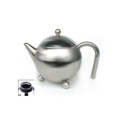 Cuisinox 12 Oz Footed Teapot with Infuser in Satin