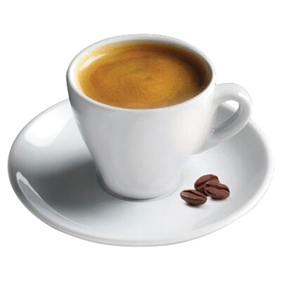 2 oz. Espresso Cup and Saucer (Set of 6) with Gift Box