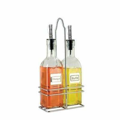Cuisinox 6 oz. French Oil and Vinegar Bottle with Caddy (Set of 2)