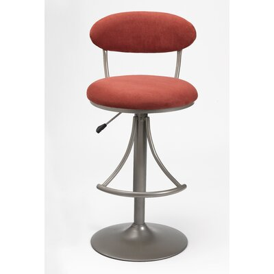 Hillsdale Venus Swivel Adjustable Bar Stool with Cushion
