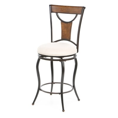 "<strong>Hillsdale Furniture</strong> Pacifico 26"" Swivel Bar Stool with Cushion"