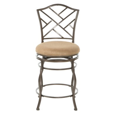 "Hillsdale Furniture Hanover 24"" Swivel Bar Stool with Cushion"