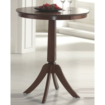 Hillsdale Furniture Plainview Bar Height Bistro Table with Corsica Stools in Brown
