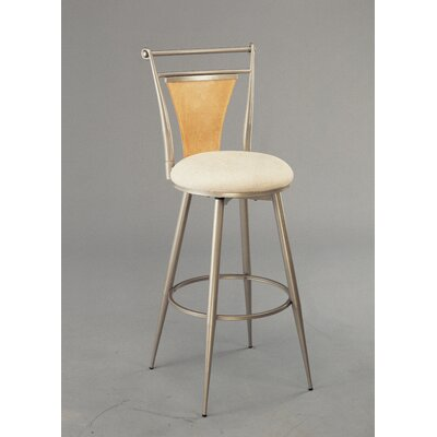 "Hillsdale Furniture London 30"" Swivel Bar Stool in Champagne"