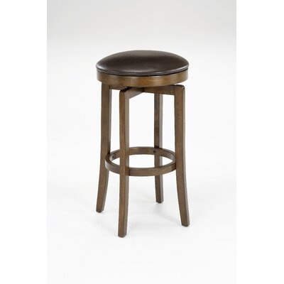 Hillsdale Furniture Brendan Backless Bar Stool in Brown Cherry