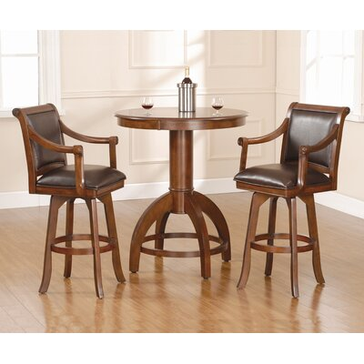 Hillsdale Furniture Palm Springs Pub Set in Medium Brown Cherry