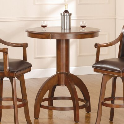 Hillsdale Furniture Palm Springs Bar Height Table in Medium Brown Cherry