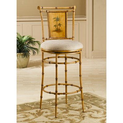 Hillsdale West Palm 26 Quot Swivel Bar Stool With Cushion