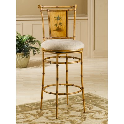 "Hillsdale Furniture West Palm 26"" Tropical Swivel Counter Stool"