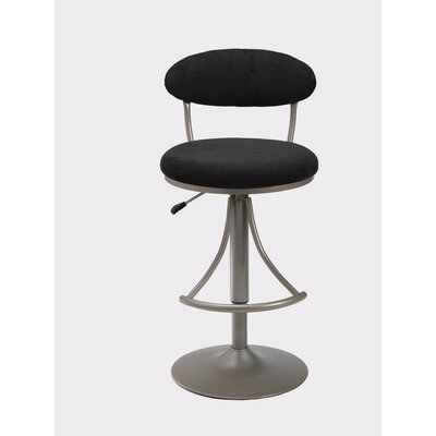 Hillsdale Swivel Bar Stool - Venus Adjustable Faux Suede