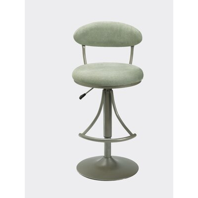 Hillsdale Furniture Venus Adjustable Swivel Bar Stool - Atmosphere Faux Suede