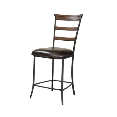 Hillsdale Furniture Cameron Ladder Back Non-Swivel Counter Stool in Distressed Chestnut Brown (Set of 2)