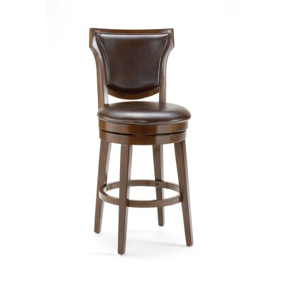 Country Heights Swivel Counter Stool in Distressed Rustic Cherry