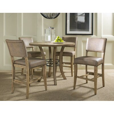 charleston 5 piece round counter height dining set reviews wayfair