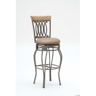Montello Swivel Stool in Distressed Desert Tan