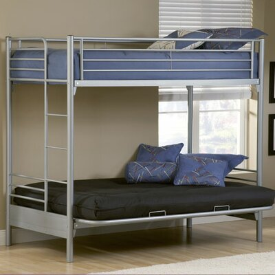 Hillsdale Furniture Universal Youth Twin over Futon Bunk Bed with Built-In Ladder