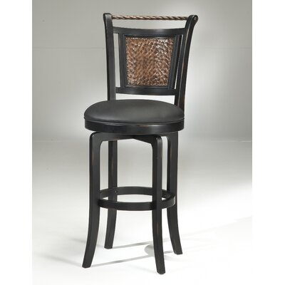 "Hillsdale Furniture Norwood 26.5"" Swivel Counter Stool in Black"
