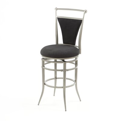 "Hillsdale Furniture Cierra Black 26"" Swivel Counter Stool"