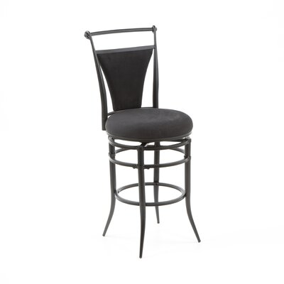 "Hillsdale Furniture Cierra 26"" Swivel Counter Stool - Black Fabric"