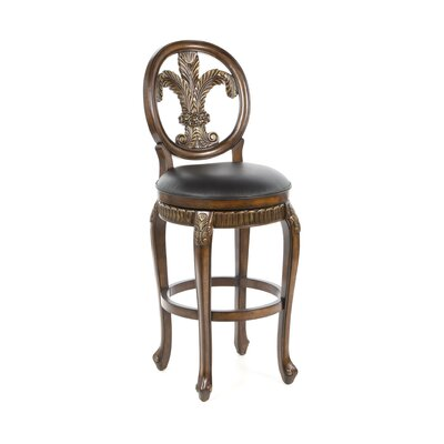 "Hillsdale Furniture Fleur De Lis 30"" Triple Leaf Swivel Bar Stool"