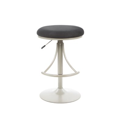 Hillsdale Furniture Venus Adjustable Backless Swivel Bar Stool - Black Faux Suede