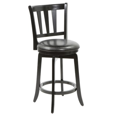 Hillsdale Furniture Presque Isle Swivel Counter Stool in Black