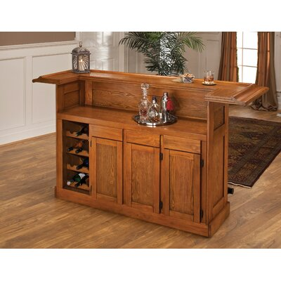 Hillsdale classic bar with wine storage reviews wayfair - Wooden home bars for sale ...
