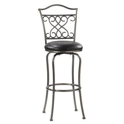"Hillsdale Furniture Wayland 24"" Swivel Counter Stool in Pewter"