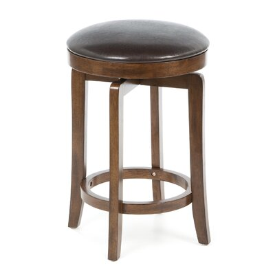 Hillsdale Furniture Brendan Backless Counter Stool in Brown Cherry