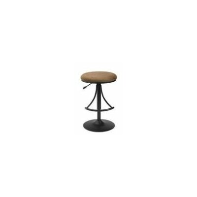 Hillsdale Venus Adjustable Backless Swivel Bar Stool in Brown
