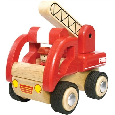 Wonderworld Mini Fire Engine Wooden Vehicle