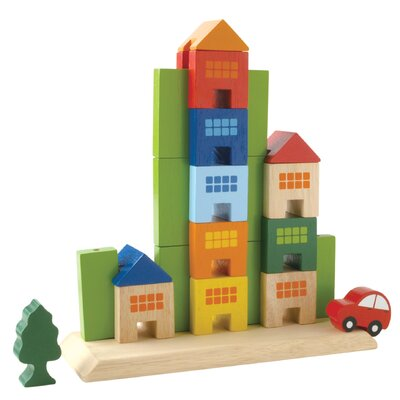 Wonderworld Sliding Town City Themed Building Blocks