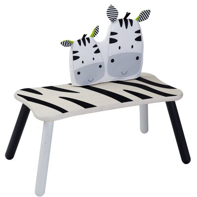 Kids' Zebra Long Bench