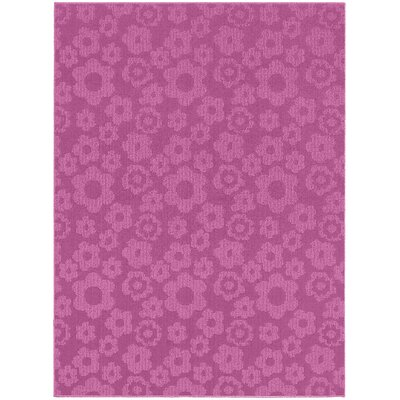 Magic Odor Eliminating Pink Flowers Rug