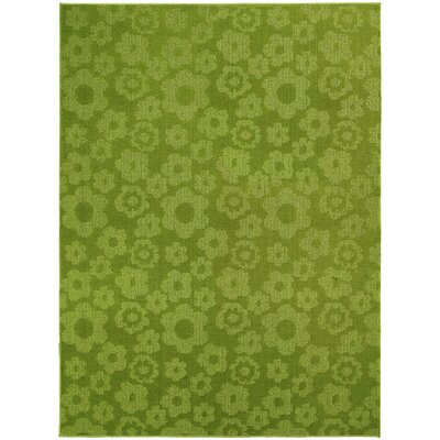 Garland Rug Magic Odor Eliminating Lime Flowers Rug