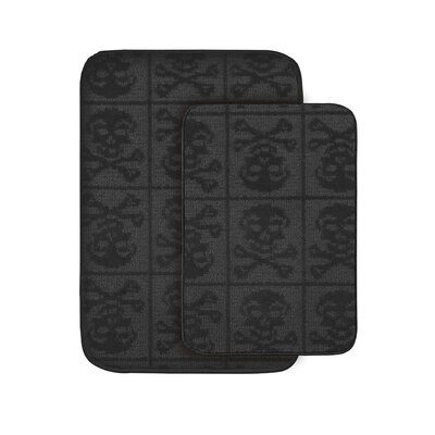 Skulls Bath Rug (Set of 2)