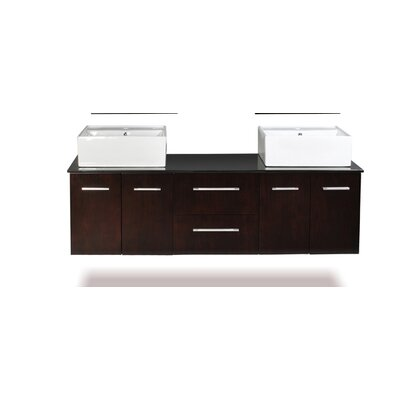 "Belmont Decor Skyline 72"" Double Vanity Set"