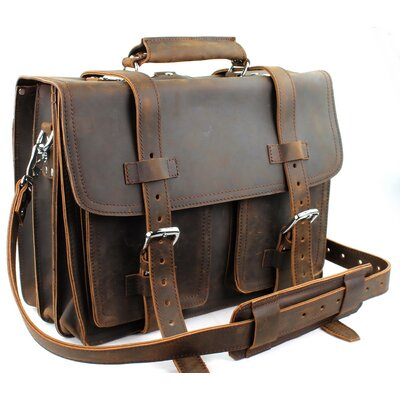Heavy Duty Leather Briefcase Backpack