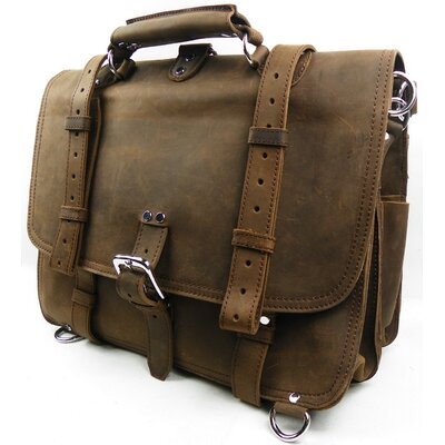 Vagabond Traveler Classic Leather Briefcase Backpack