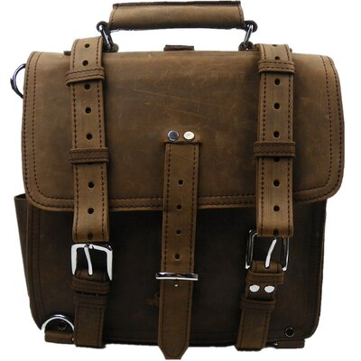 Vagabond Traveler Hiker Leather Laptop Backpack